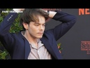 VIDEO Charlie HEATON 4 july 2019 on the Paris red carpet of Stranger Things 3