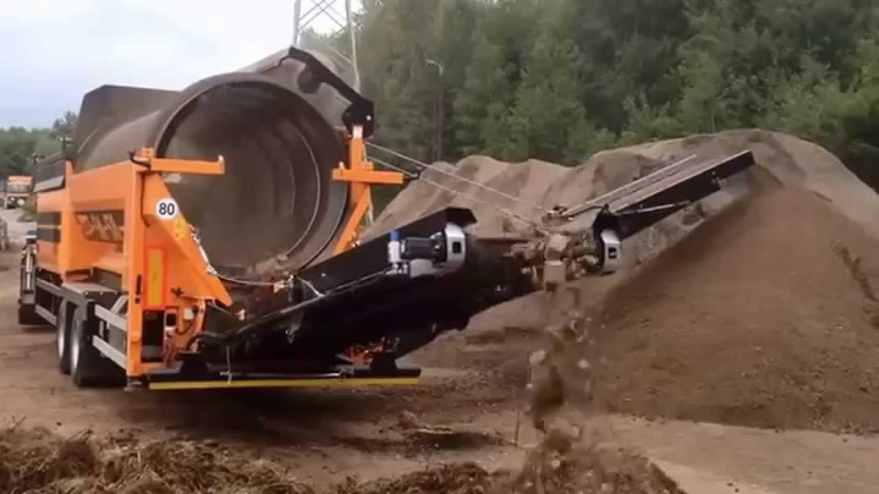 Trommel Screen - Doppstadt SM518 Plus: Topsoil Application
