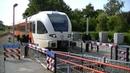 Spoorwegovergang Harlingen Dutch railroad crossing