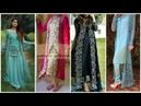Latest Net Embroidery open slit gown || Silk long kurta Fashionbeauty