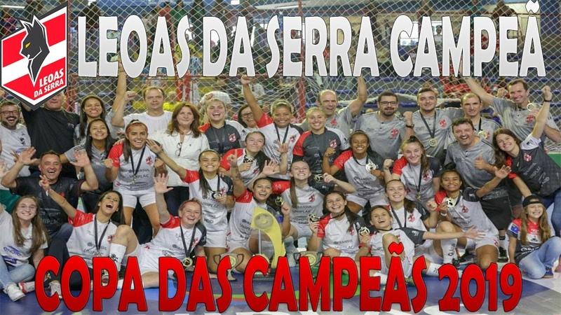 LEOAS CAMPEÃ Gols Taboão 1x5 Leoas da Serra FINAL Copa das Campeãs de Futsal 2019 31 03 2019