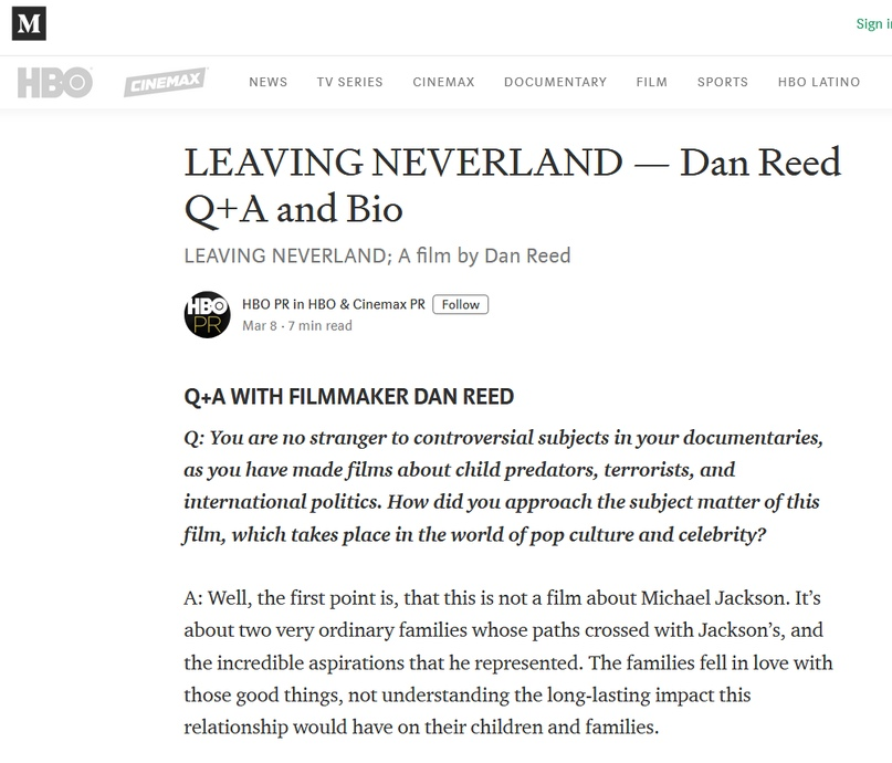 Как связаны Leaving Neverland и Kew Media Distribution (KMD)?, изображение №14