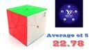 Redi Cube average of 5 - 22.78 (official solves)