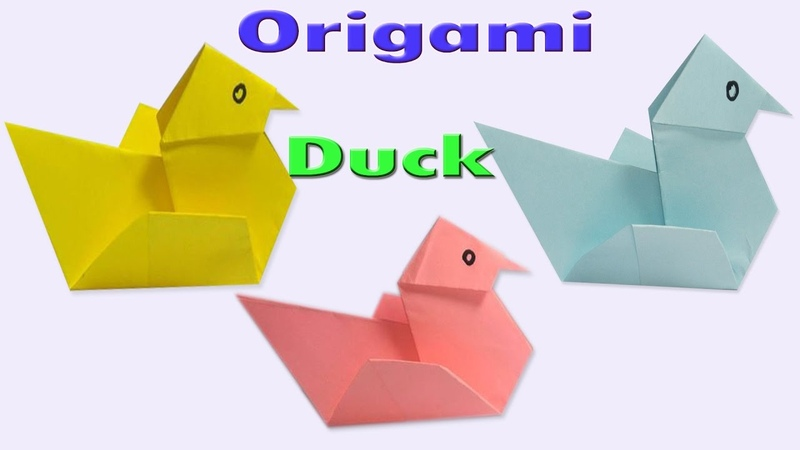 How to Make an Easy Origami Duck Paper Duck Tutorials Paper Folding Duck Instruction