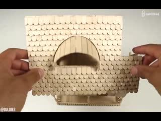 Когда руки из нужного места, можно творить из разных материалов...
