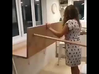 Когда мало места - раскладной стол -