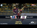 DIRETTA LIVE Playoff Serie A Planetwin365 Italservice Pesaro Real Rieti Semifinale Gara 1