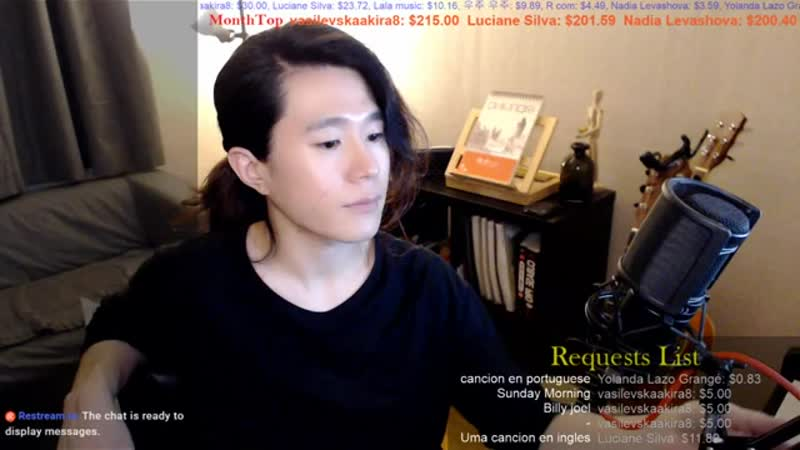 【Live Stream_ライブ配信】 🇰🇷🇯🇵🇬🇧🇫🇷🇪🇸 Talk and Song Practice , 適当な弾き語り配信。.mp4