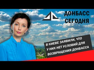 В Киеве заявили, что у них нет условий для возвращения Донбасса.