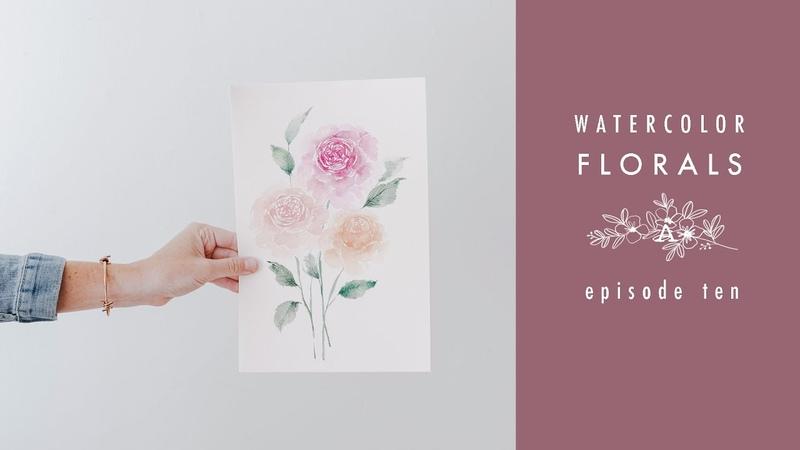 How To Paint Roses Watercolor Florals Episode Ten