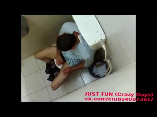 Jerking in toilet somhere in europe* член хуй cock penis дроч wank jerk caught spy public