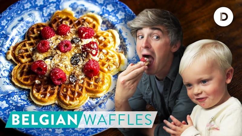 RECIPE My BEST Belgian Waffles with Noah