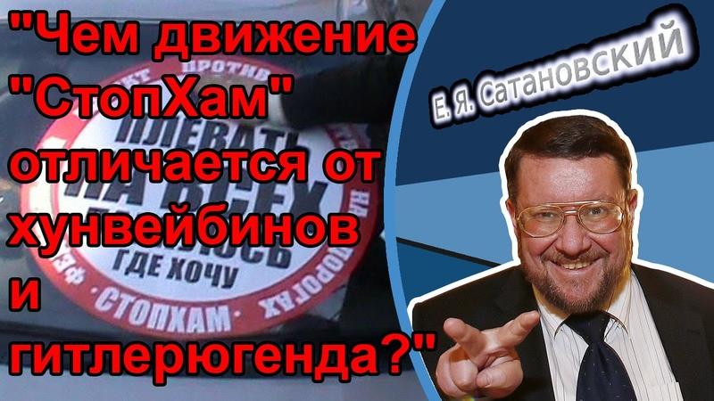 Евгений Сатановский Чем движение СтопХам отличается от хунвейбинов и гитлерюгенда