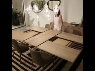 Раскладной стол - оригинальная идея -