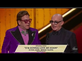 "Oscars Awards 2020 | Best Original Song | ""(I'm Gonna) Love Me Again"" from Rocketman – Elton&Bernie"