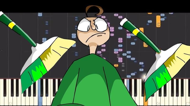 Sweeping Time NPT Music Remix Baldi's Basics Piano Cover YoruShika