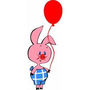 картинка пятачка с воздушными шарами каждый развлекается как