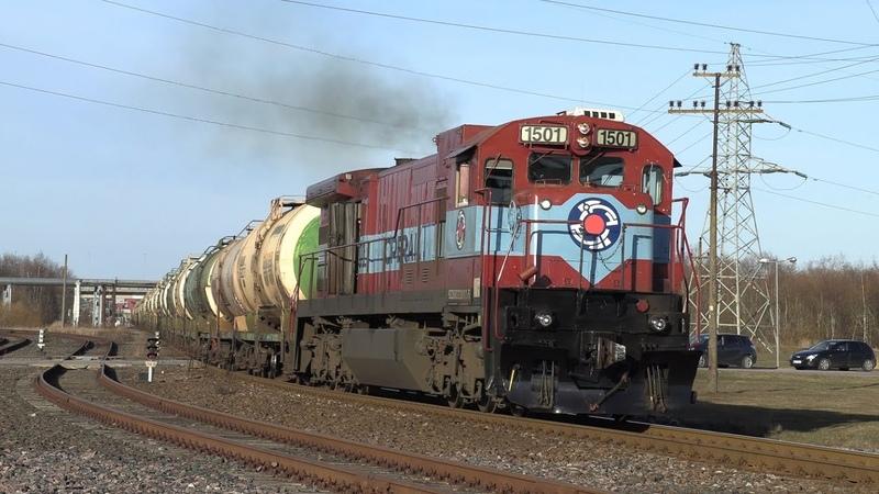 Тепловоз Ц36 7и 1501 на ст. Мууга GE C36 7i 1501 at Muuga station