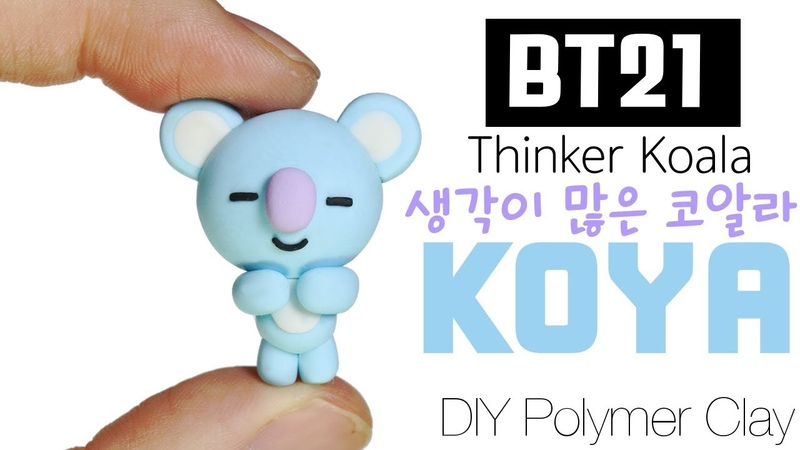 BTS RAP MONSTER BT21 BTPlanet Series How to DIY KOYA Polymer Clay Tutorial