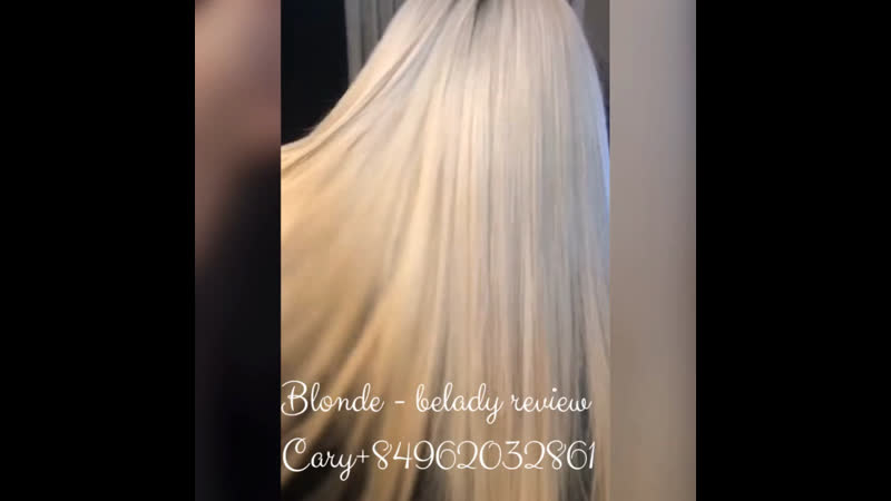 Blond review Cary Belady hair