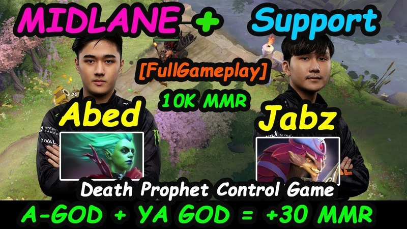 EG Abed [Death Prophet] A-GOD MIDLANE 10K MMR Feat Fnatic Jabz Dota 2 Full Pro Gameplay