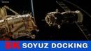 8K Video SOYUZ MS 12 Docking at the International Space Station