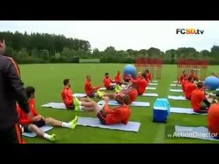 Веселое и интересное упражнение от ФК Шахтер Донецк