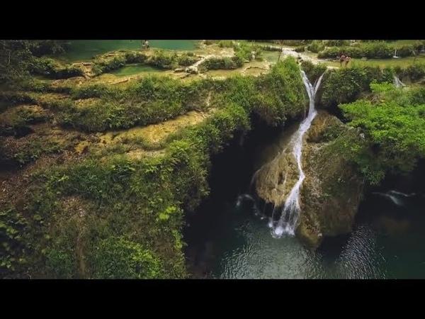 Живой водопад Семук Чампей Гватемала