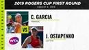 Caroline Garcia vs Jelena Ostapenko 2019 Rogers Cup First Round WTA Highlights