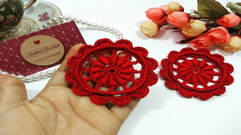 Aprenda a Tecer uma Linda Flor Vermelha!