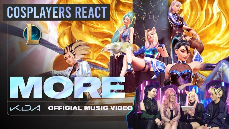 K DA MORE ft Madison Beer G I DLE Lexie Liu Jaira Burns Seraphine Cosplay Reaction eng sub