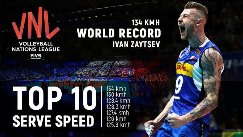TOP » 10 Serve (Ace) Speed | New World Record 134 Kmh | Volleyball Nations League 2018