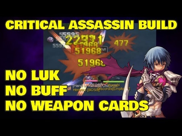 NO Luk Crit Assassin Build [No Buff, No Weapon Cards] - Ragnarok Mobile Eternal Love