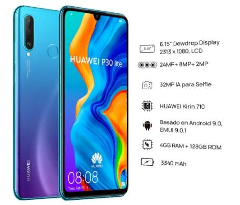 Оригинальная глобальная версия Huawei P30 Lite
