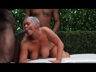 [castingcouch-hd.com] sara - she takes 2 bbc [mature, treesome, blowjob, big tits, big ass]