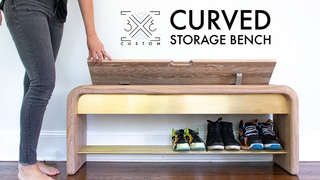 Storage Bench with curves and BRASS accents - Builders Challenge Season 9 Build