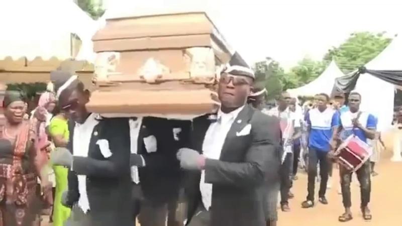 Очередное видео про 5G и афроамериканцев с гробом