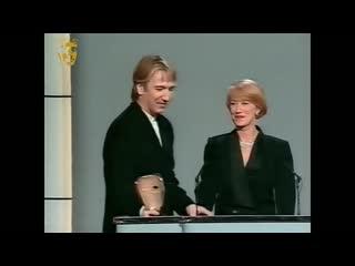 """Алан Рикман получает премию Британской киноакадемии BAFTA в номинации """"лучший актер второго плана"""" за фильм """"Робин Гуд, принц во"""