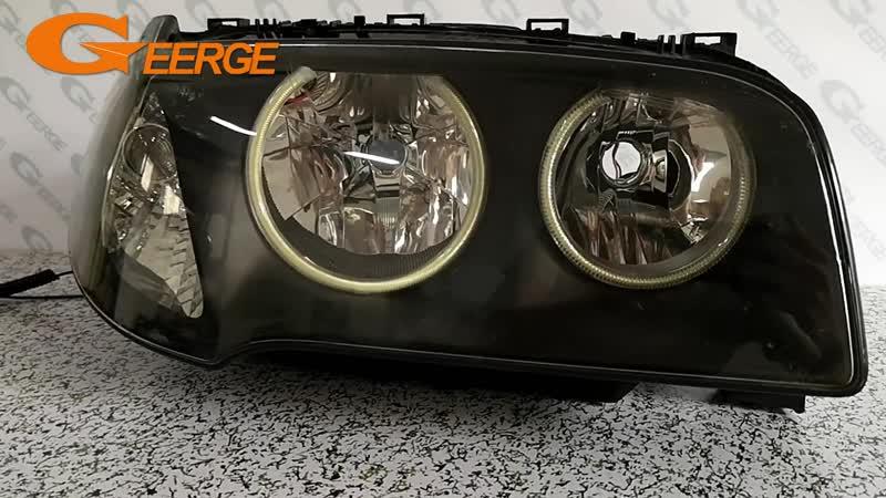 For BMW E83 X3 2003 2004 2005 2006 Halogen headlight Excellent Ultra bright illumination COB led angel eyes kit halo rings