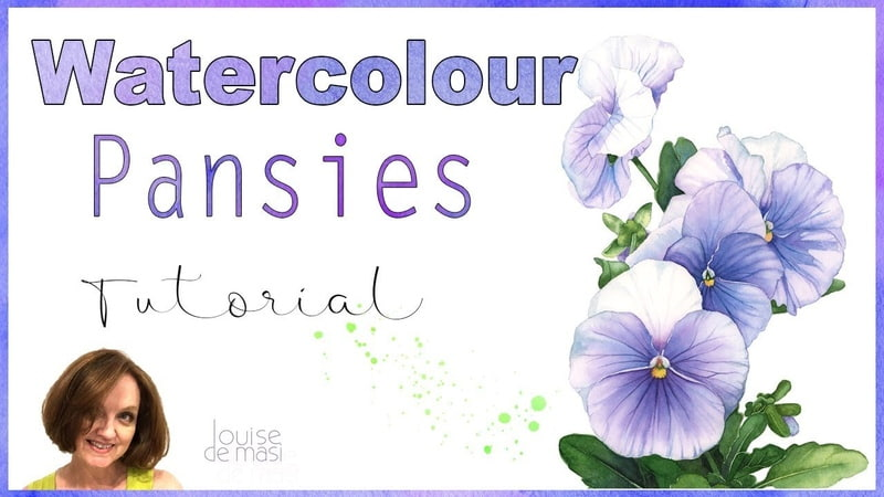 Watercolor Tutorial How to Paint a Pansy in Watercolor Louise De Masi