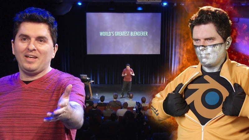 Captain Disillusion World's Greatest Blenderer Live at the Blender Conference 2018