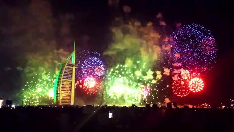 Dubai Amazing 2020 fireworks at Burj Al Arab Newyear