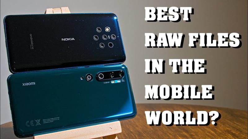 Xiaomi Mi Note 10 vs Nokia 9 PureView RAW comparison