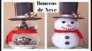 DIY BONECOS DE NEVE COM AQUÁRIOS - DECORAÇÃO DE NATAL - Especial Natal 5