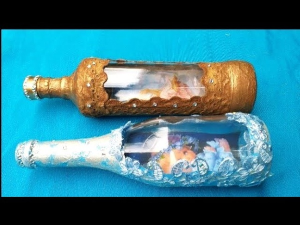 Decoupagem inversa em garrafas de vidro com papel a4