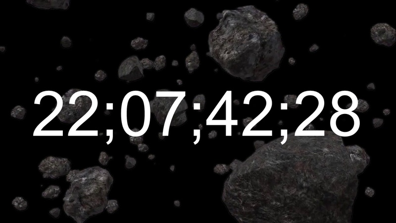 🕘 Space Clock-23 🕙 22:00 - 23:00 | Twenty three o'clock | What time is it now? | Solar System