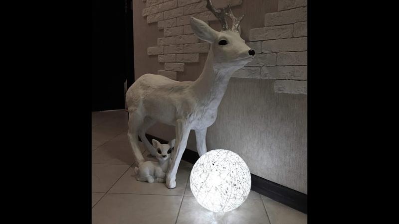 Большой шар снежный ком под ёлку