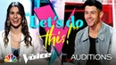 Nick Jonas Fights for Joanna Serenko, Who Sings All My Loving - Voice Blind Auditions