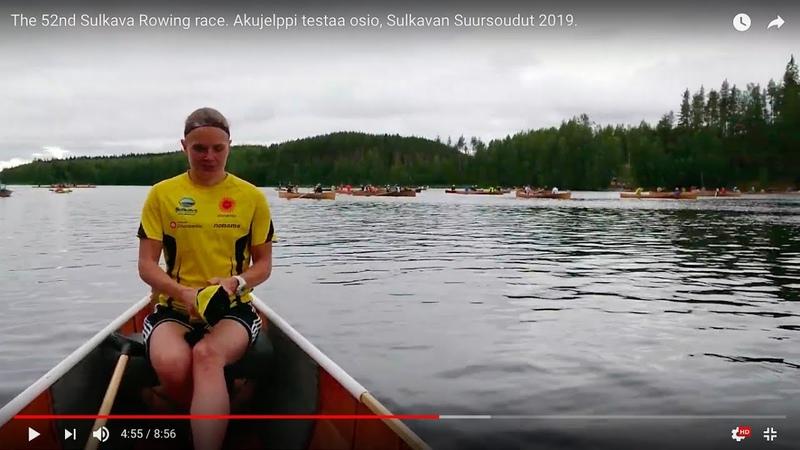 The 52nd Sulkava Rowing race Akujelppi testaa osio Sulkavan Suursoudut 2019