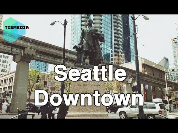 Walking around Olive Wy and 5th Ave to University St and 5th Ave【4K】, Seattle Downtown, Washington